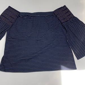 Club Monaco tube top with bell sleeves